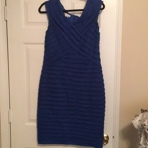 EUC London Times total blue sheath dress. Size 14